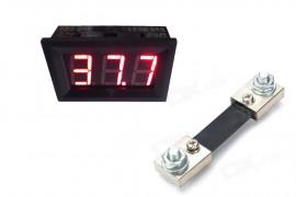 Virtamittari 0-100A (pun LED)