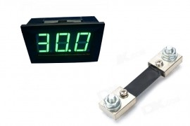 Virtamittari 0-100A (vihr LED)