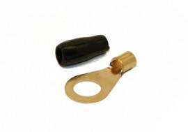 Rengasliitin 6mm² kaapelille (musta)